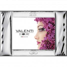 Valenti cornice 25° anniversario + specchio 24x18 cm