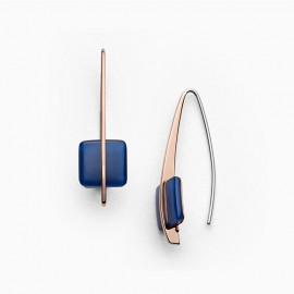 Skagen jewels orecchini pendenti sea glass deep blue rg