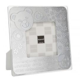 Argenesi cornice teddy argento 10x10 cm