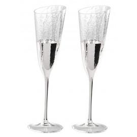 Argenesi kit 2 flutes vetro dolce vita argento