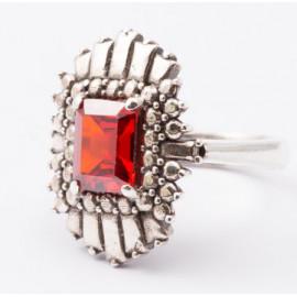 Nelson anello etoile zircone rosso