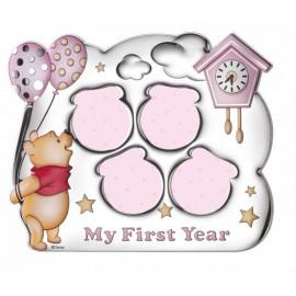 Valenti cornice my first year 4 foto winnie pooh bimba