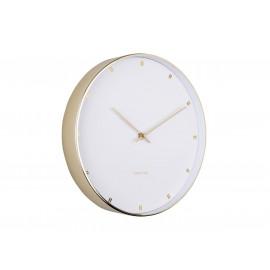 Karlsson petite orologio da parete in acciaio dorato bianco