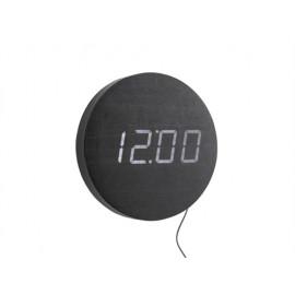 Karlsson round orologio a led nero
