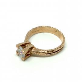 Nelson anello solitario rosè wh