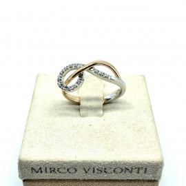 Mirco visconti anello fantasia bicolore