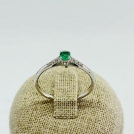 Di.fi anello smeraldo e brillanti
