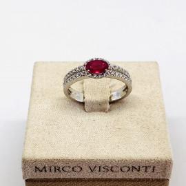 Mirco visconti anello con rubino e brillanti