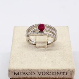 Mirco visconti anello fantasia con rubino e brillanti