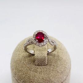 Di.fi anello fantasia con rubino e brillanti