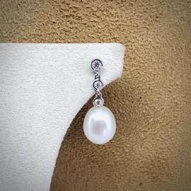 Mirco visconti orecchini pendenti con perle e brillanti