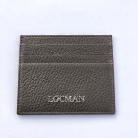 Locman pelletteria pocket card color taupe