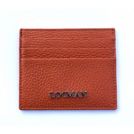 Locman pelletteria pocket card color arancio