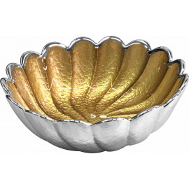 Argenesi ciotola torciglione 22 cm oro