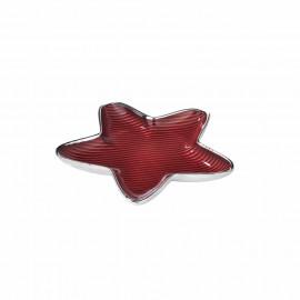 Argenesi piatto stella righe 13 cm rosso