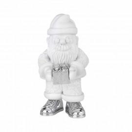 Argenesi babbo natale bianco h 16,5 cm con regalo