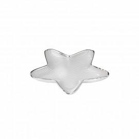Argenesi piatto stella righe 13 cm bianco perla