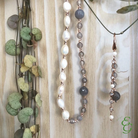 Kikilia orecchini ellenoire agata e perle