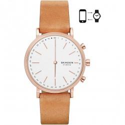 Skagen hybrid smartwatch hald tan leather