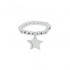 Cuore puro anello elastico stella dei desideri