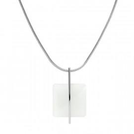 Skagen jewels collana sea glass white square st