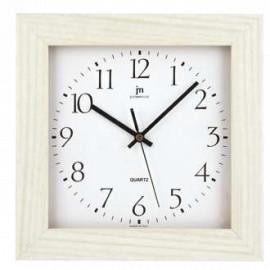 Orologio quadrato lowell 27 cm rovere bianco