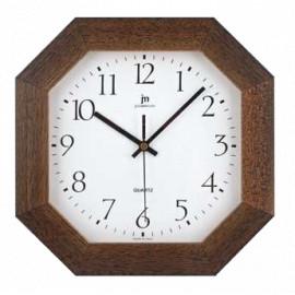 Orologio ottagonale lowell 27 cm noce