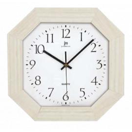 Orologio ottagonale lowell 27 cm rovere bianco