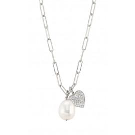 Nomination collana white dream perla e cuore st