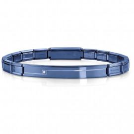 Nomination bracciale trendsetter slim pvd blu con zircone