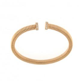 Ercolani bracciale semirigido in oro rosa con brillanti