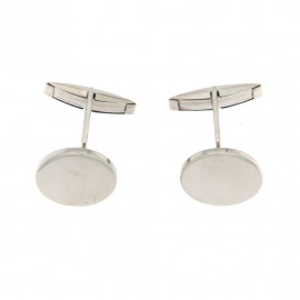 Donnini gemelli ovali in argento