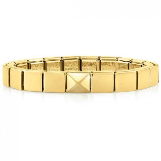 Nomination bracciale glam dorato piramide grande