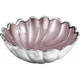 Argenesi ciotola torciglione 22 cm rosa cipria